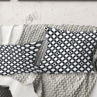 "East Urban Home Monochrome Pattern XIV Pillow Size: 18"" x 18"""