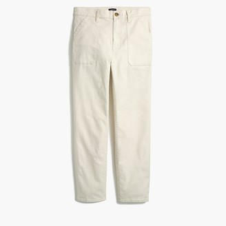 "J.Crew 10"" Highest-Rise Utility Straight Pant In Stretch Canvas"