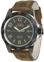 Timex Expedition® Rugged Metal Field Black Dial, Brown Leather Strap Watch