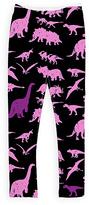 Urban Smalls Black & Purple Dinosaur Leggings - Toddler & Girls