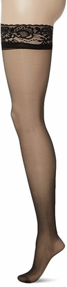 Pretty Polly Women's Gloss Hold Ups 10 DEN Tights