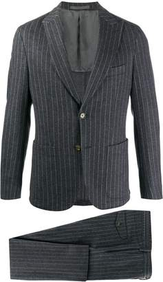 Eleventy pinstriped single-breasted suit