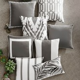 Williams-Sonoma Williams Sonoma Outdoor Solid Pillow Cover with Piping, Gray