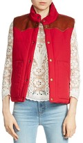 Maje Gorky Reversible Leather-Paneled Vest