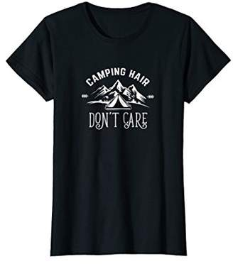 Womens Camping Hair Don't Care T-shirt
