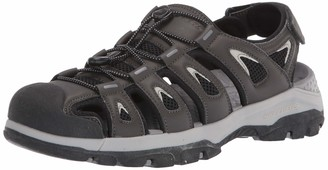 Skechers Men's Tresmen-Outseen Slip On Canvas Fisherman Sandal