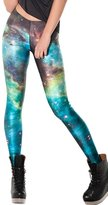 DQdq Women's Digital Printing Leggings Stretchy Tights Galaxy