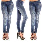 Newleaf New Stylish Faux Jean Denim Jeggings Women Leggings Pants for Girls Lady