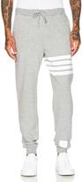 Thom Browne Distressed 4 Bar Stripe Sweatpants