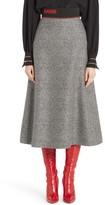 Fendi Women's Chevron Knit A-Line Skirt