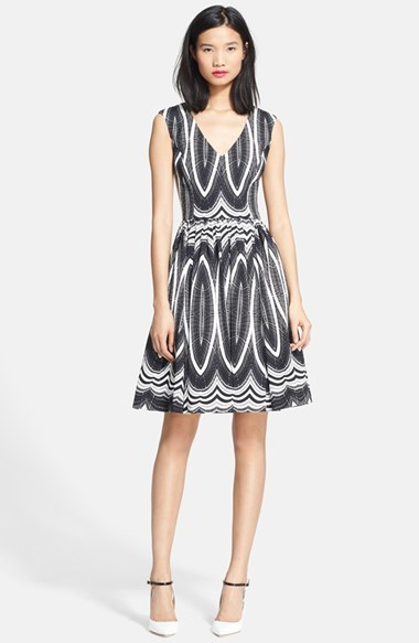 Tracy Reese 'Dolce Vita' Stretch Twill Fit & Flare Dress