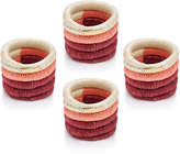 Mercedes Salazar Set-Of-Four Pink Raffia Napkin Rings