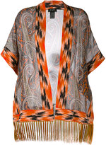 Etro fringed kimono top - women - Silk/Acetate - One Size
