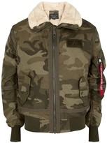 Alpha Industries B15 3-TT camouflage-print bomber jacket