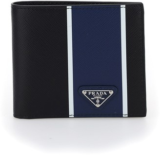 Prada Triangle Logo Bifold Wallet