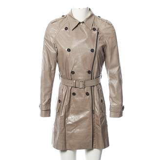 Miu Miu Grey Leather Coats