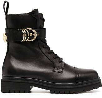 Versace Jeans Couture Buckle-Detail 30mm Ankle Boots