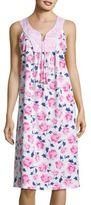 Carole Hochman Floral Contrast Nightgown