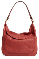 Frye Campus Rivet Leather Hobo - Red