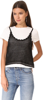 ENGLISH FACTORY Crochet Cami Tee