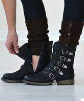Dark Brown Button-Down Boot Cuffs