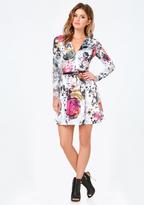 Bebe Print Flared Dress