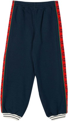 Gucci Kids Sport Trousers With Logo Band