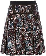Self-Portrait floral skirt - women - Cotton/Polyester/Spandex/Elastane - 8
