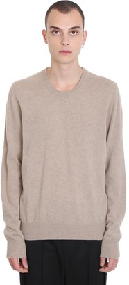 Maison Margiela Knitwear In Taupe Cashmere