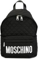 Moschino quilted backpack - women - Leather/Nylon/Polyester - One Size