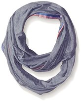 D&Y Women's Jersey Loop Scarf with Americana Trim