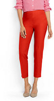 Lands' End Women's Petite Mid Rise Bi Stretch Capri Pants-Sweet Persimmon