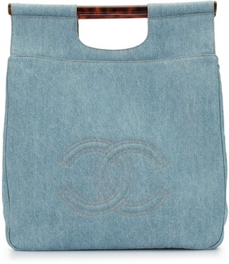 Chanel Pre Owned 1997 CC denim tote