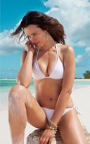 Voda Swim White String Bikini Bottom