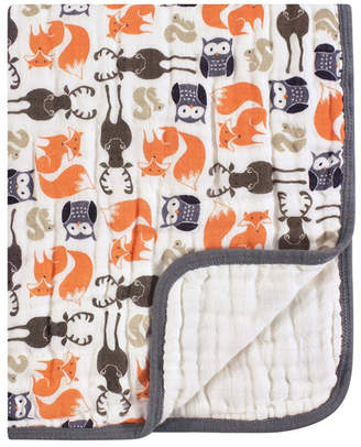 Hudson Baby Four Layer Muslin Tranquility Blanket, One Size