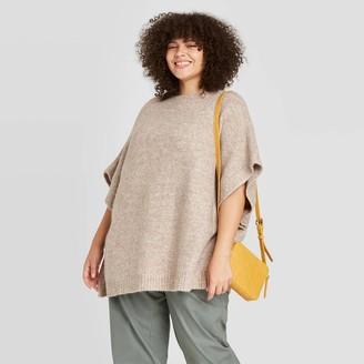 Universal Thread Women' Plu ize Poncho weater - Univeral ThreadTM Olive