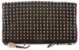 Thomas Wylde Skull Studded Foldover Shoulder Bag