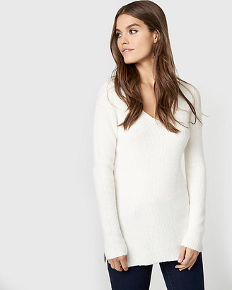 Le Château Textured Boucle Lace-Up Sweater