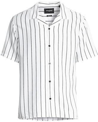 The Kooples Short-Sleeve Striped Shirt