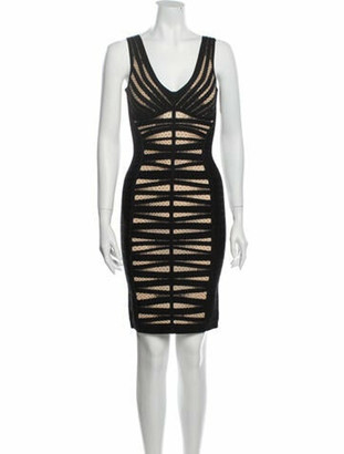 Herve Leger Alana Mini Dress Black