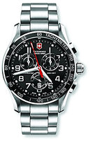 Victorinox Swiss Army Chrono Classic XLS Black Dial SS Men's Bracelet Watch