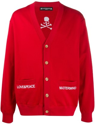 Mastermind Japan Embroidered Buttoned Cardigan