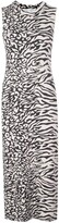 Proenza Schouler White Label black and white animal print dress