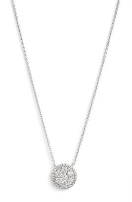 Bony Levy 'Mika' Round Halo Diamond Pendant Necklace
