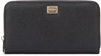 Dolce & Gabbana Logo Plaque Zip-Around Wallet