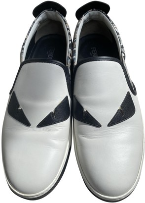 Fendi White Leather Trainers