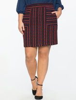 ELOQUII Plus Size Textured Patch Pocket Mini Skirt