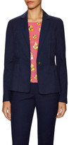 Diane von Furstenberg Gavyn Cotton Back Band Blazer