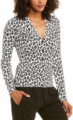 Theory Leopard Cardigan