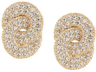 Alessandra Rich Crystal-Embellished Clip-On Earrings